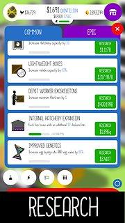 Egg, Inc. - snímek obrazovky
