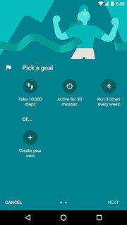 Google Fit - Fitness Tracking - snímek obrazovky
