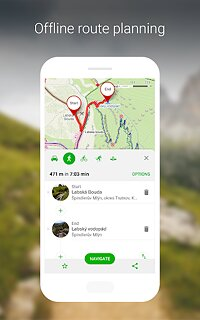 Mapy.cz - Cycling & Hiking offline maps - snímek obrazovky